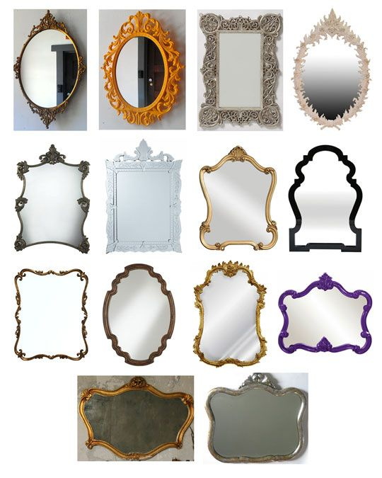Funky & Unexpected Bathroom Mirrors Classic Glam Source List