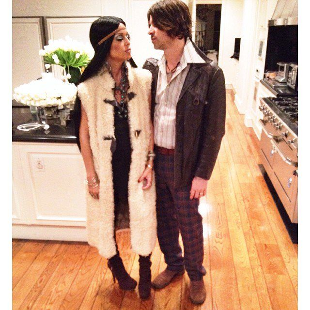 Pin for Later: 42 Times Celebrities Dressed as Other Celebrities For Halloween Rodger Berman and Rachel Zoe as Sonny and Cher in 2013