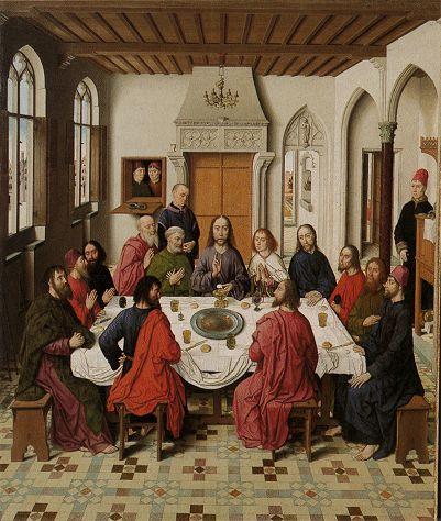 Het Laatste Avondmaal (middenpaneel) - Dirk Bouts (1464)