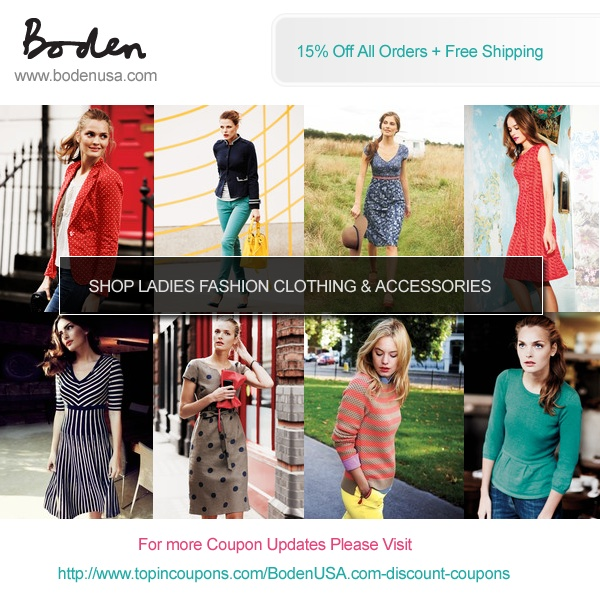 Boden Free Shipping Policy Boden does not offer free shipping without a coupon code, however flat rate shipping is $10 and packages are shipped from the US and the UK. About Boden Boden is a quality British clothing company providing a fun-packed collection for the entire family. From humble beginnings in , selling a small selection of 85%(61).