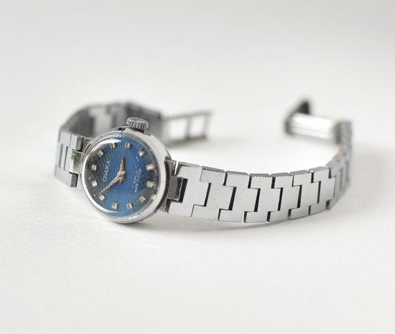 Ladies wrist watch Chaika silver color Soviet Era by SovietEra, $37.00