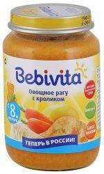 Бебивита пюре овощное рагу с кроликом с 8 мес 190г  — 65р. ----- Овощное рагу с кроликом    С низким содержанием соли – для нежного натурального вкуса   Кукурузное масло – источник ценных ненасыщенных жирных кислот Омега-6, которые важны для сбалансированного питания   Не содержит молочный белок   Без ароматизаторов   Без консервантов   Без красителей   Без глютена   Без ГМО      Богат железом – важным элементом для кроветворения и умственного развития   Пюре с маленькими…
