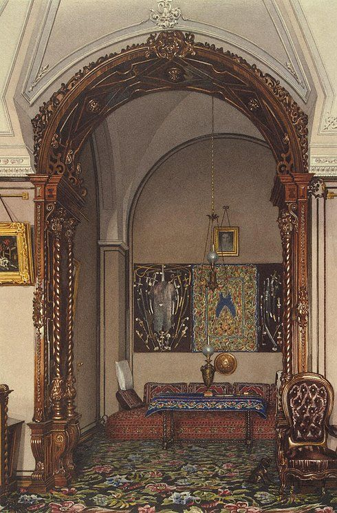 Interiors of the Winter Palace. The Alcove of the Study of Grand Prince Nikolai Nikolayevich