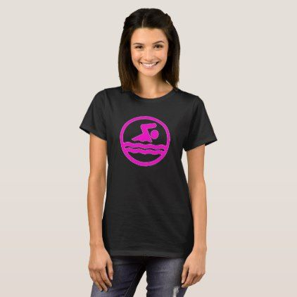Women's Pink Swimming & Diving Swim Icon T-Shirt  $24.95  by SoccerMomsDepot  - custom gift idea