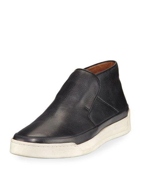 JOHN VARVATOS Remy Leather Mid-Top Slip