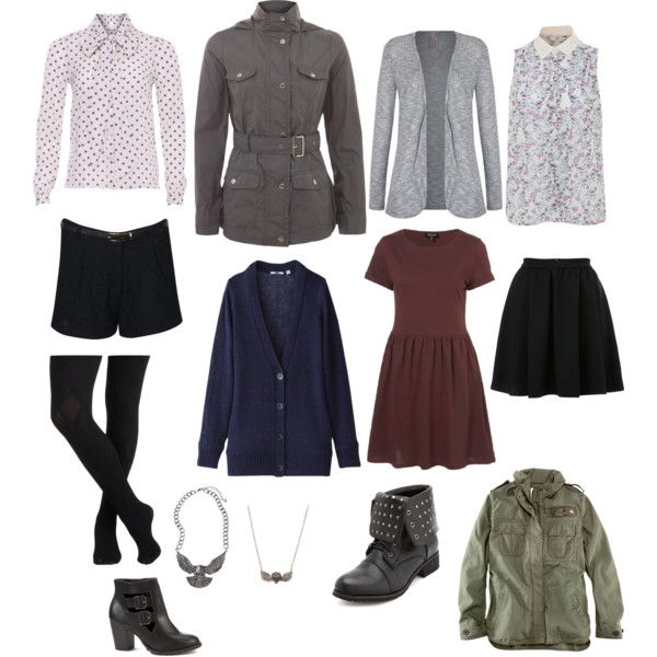 The Bells of Saint John by clarainhersnogbox on Polyvore featuring Topshop, Uniqlo, VILA, H&M, Therapy, Charlotte Russe, Rock Rebel, the bells of saint john, clara oswald and jenna-louise coleman