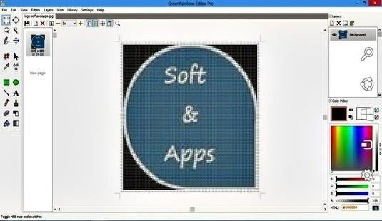 Greenfish Icon Editor Pro, herramienta gratuita para editar o crear iconos y cursores