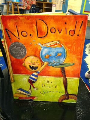 No, David!, A great book for teaching how to make inferences while reading! lesson from Mrs. Hiner's Headlines