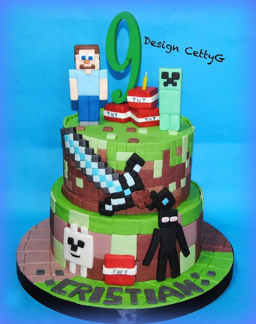 Le torte decorate di Cetty G: Mine Craft cake