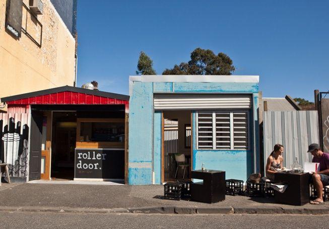 Roller Door  13 Stawell Street   West Melbourne  www.rollerdoor-cafe.com.au  Tel: (03) 9362 7960  Tue to Fri 7:00 am - 3:00 pm  Sat 8:00 am - 3:00 pm  Sun 9:00 am - 3:00 pm