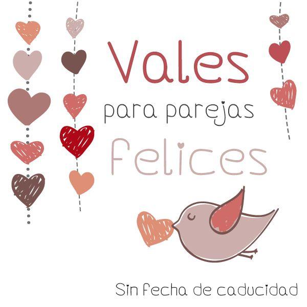 Hoy en el blog... Descargable gratuito especial San Valentín :) Talonario de Vales para parejas felices :) http://miamandarinablog.wordpress.com/2014/01/22/descargable-san-valentin-talonario-de-vales-para-parejas-felices/