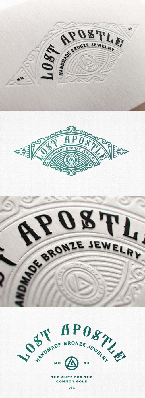 Excellent Bespoke Typography And Vintage Imagery On A Letterpress Business Card
