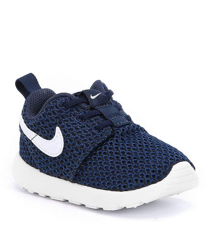 Navy/White:Nike Roshe One Boys Running Shoes - Size 5 Toddler