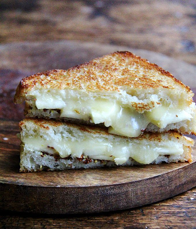 Grilled Apple, Cheddar and Mustard Sandwich