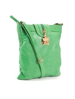 Jocasi Green Leather Festival Bag  £114.99