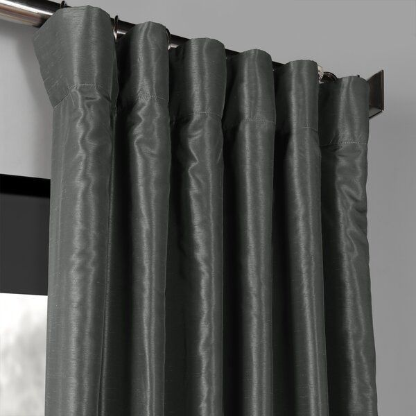 Forbell Solid Blackout Rod Pocket Single Curtain Panel