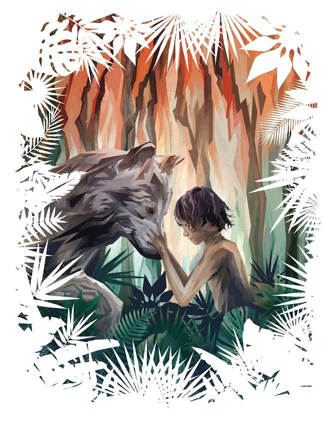 digital print 11 x 14 inches edition of 20 inspired by The Jungle Book