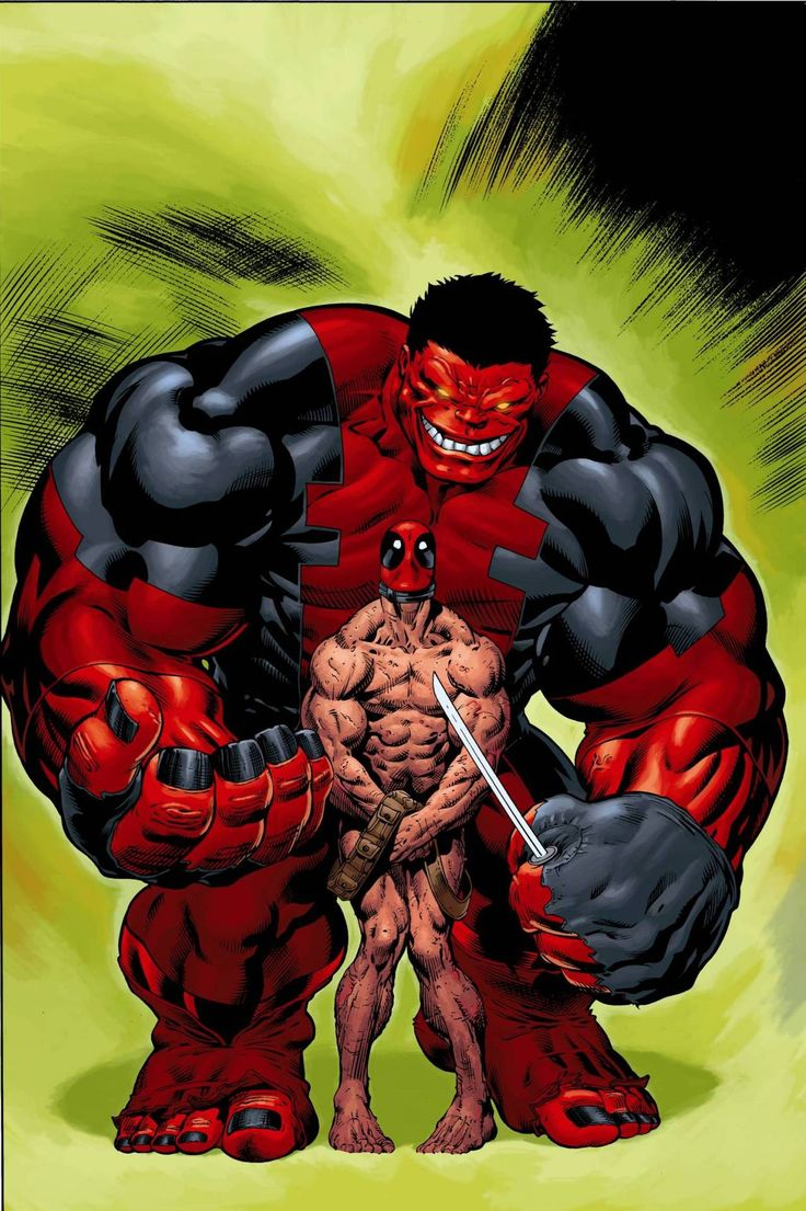 Red Hulk vs Deadpool by Ed Mcguinness