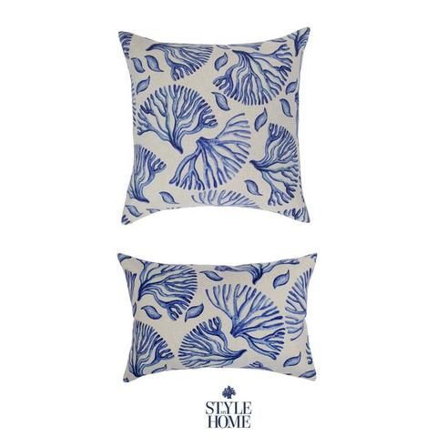 Hamptons Style Outdoor Cushion Blue from Style My Home Australia