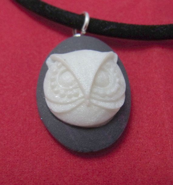 Little white owl young person necklace