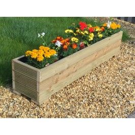 large wooden garden planter trough 150cm length free lining free gift