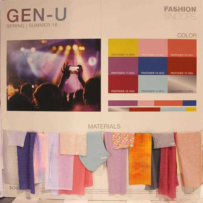 Gen-U fashion trend forecast spring summer 2016. Trends for mood board inspiration