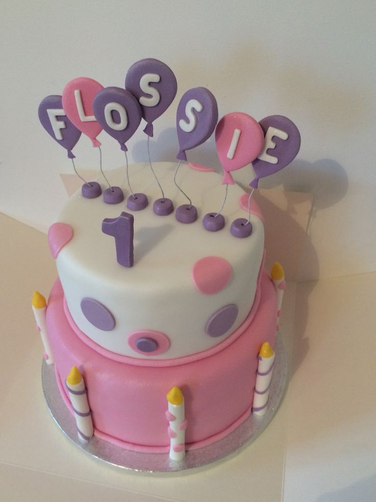 Girls Birthday Butterfly Pink Cakes With Bows On
