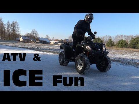 ATV drifting on ice - winter 2016 snow and ice - Taplic video