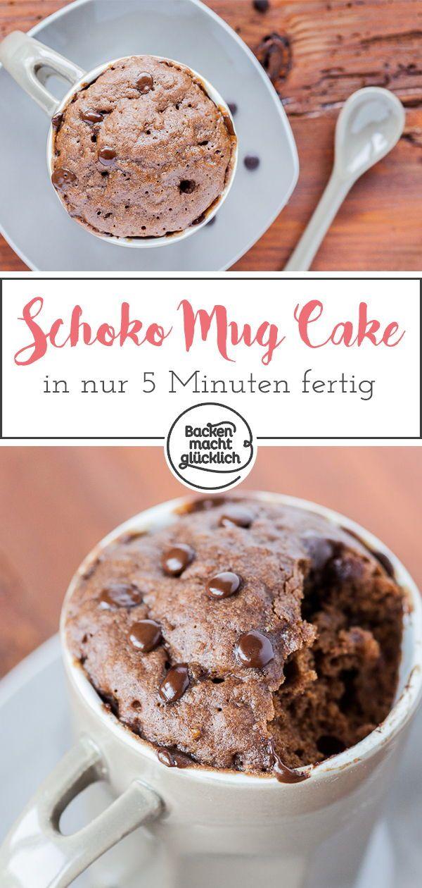 Schoko Tassenkuchen Aus Der Mikrowelle Rezept Food Diary