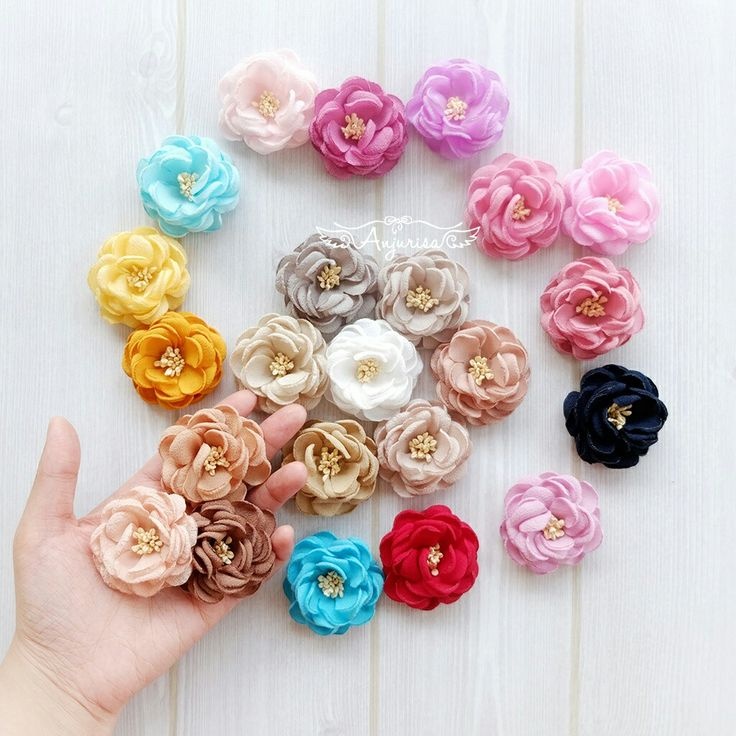 Handmade fabric flowers <3