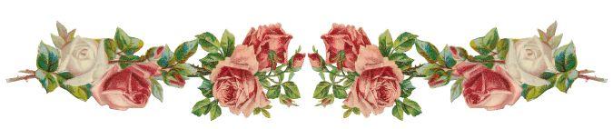 Free digital vintage rose frame and border png - Rosenrahmen - freebie | MeinLilaPark – DIY printables and downloads