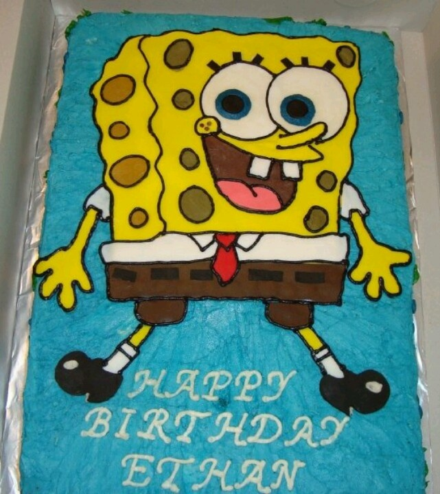How To Make A D Spongebob Cake Step By Step