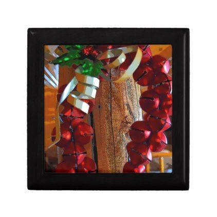 Christmas Jingle Bells Jewelry Box - holidays diy custom design cyo holiday family