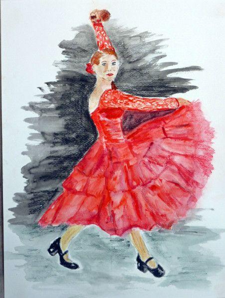 Danseuse art et culture la peinture et la po sie - Peinture danseuse de flamenco ...