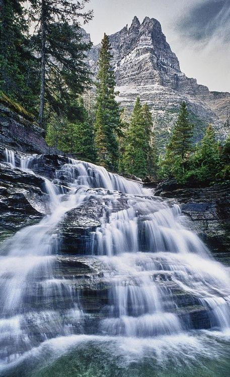 Glacier National Park Waterfall, Montana