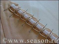 Воздушные петли из корсажного шнура на регилине