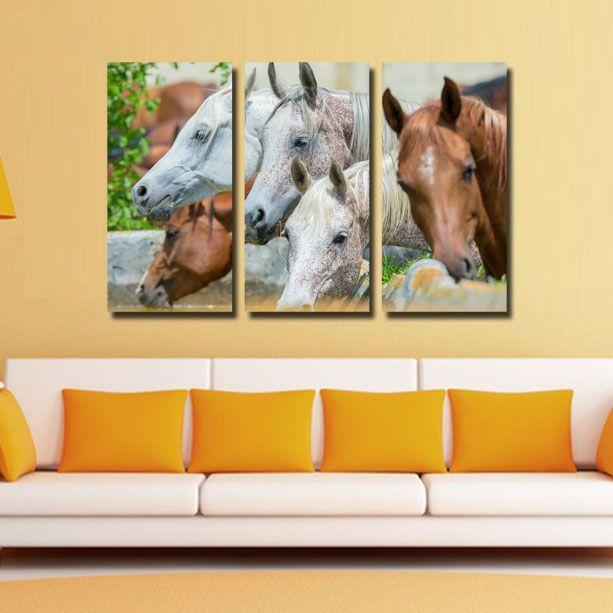#Tablouri_Canvas din 3 piese: 3 buc x 30 x 60 cm.Suprafata totala : 120 x 85 cm.