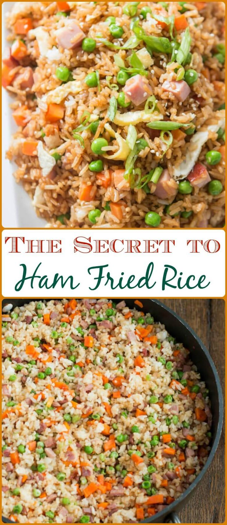 The Secret to Ham Fried Rice via @ohsweetbasil