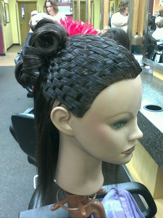 Basket Weave Updo Hairstyle Hair Color Ideas And Styles For 2018