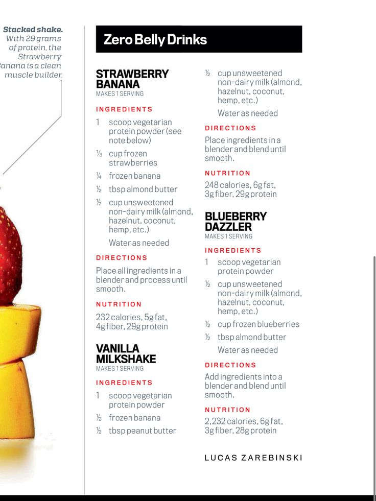 zero belly diet smoothies