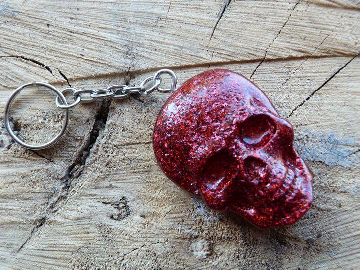 skull lover, biker key chain,custom key ring,skull key ring, goth key ring, skull charm,skull keyring charm,skull fob, skull key fob, by ZascreationsCrafts on Etsy