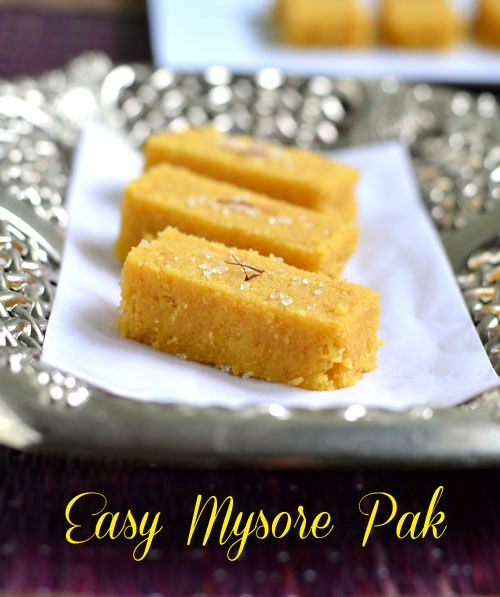 Easy mysore pak recipe using microwave within 5 minutes! - Easy Diwali sweet recipes.