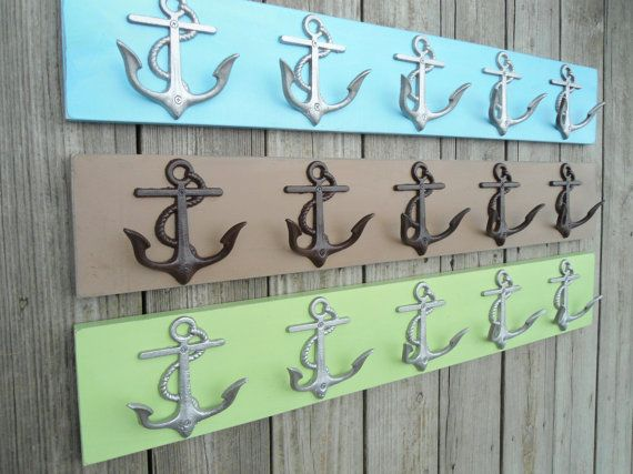 This beach home decor is for 2anchor hook boards, TWO 5 (FIVE) anchor hook boards (shown in photos 1, 2 and 3); the dimensions of this board are