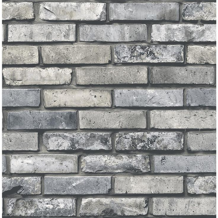 FD23288 - Brewster FD23288 Painted Grey Brick Wallpaper