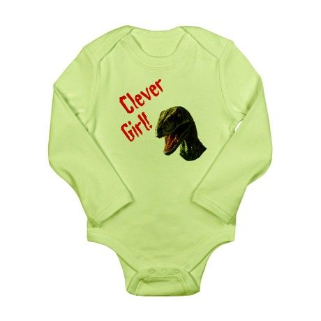 Clever Girl Long Sleeve Infant Bodysuit