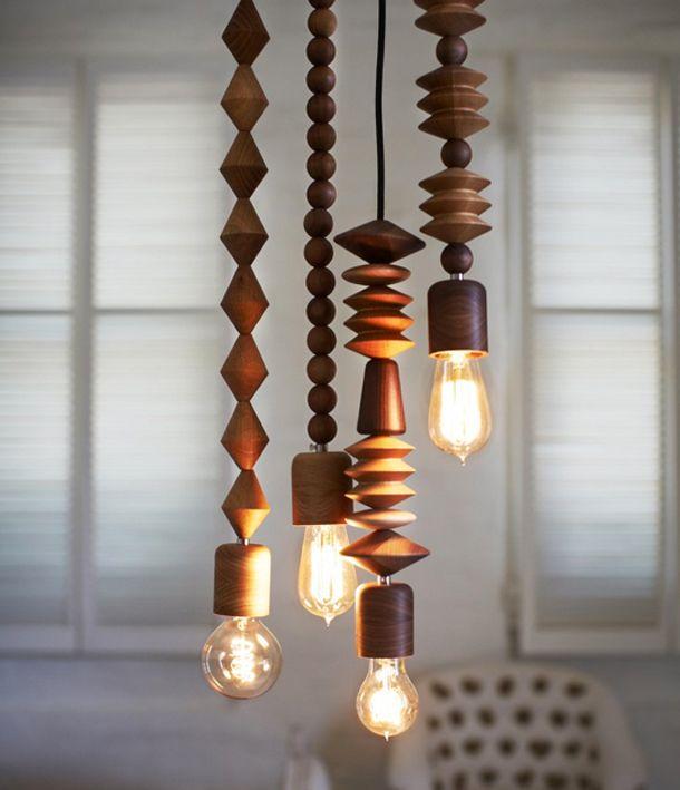 Lampa i trä