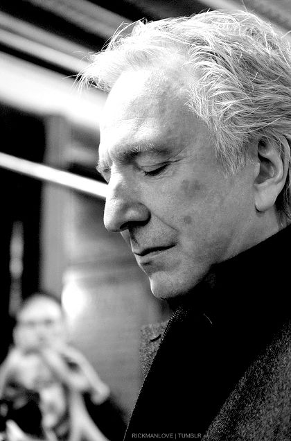 Alan Rickman. It's sad to think we will never see any new movies with this gorgeous man it them. Alan, you are a star among stars.