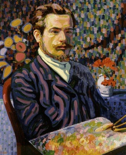 Self portrait auguste herbin 1906 oil on canvas for Auguste herbin