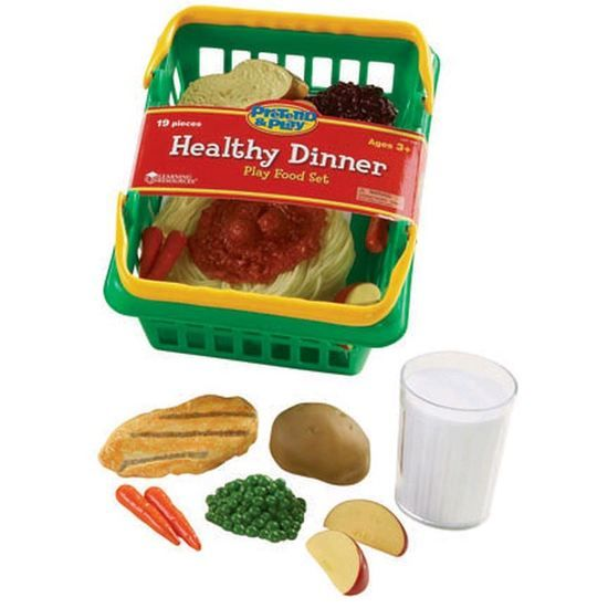 Learning Resources Pretend & Play Healthy Dinner Playfood Set