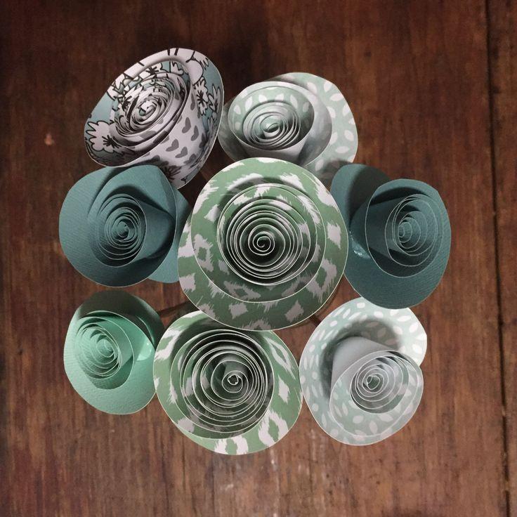 Unique handmade paper flowers.